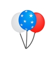 Balloons in the USA flag colors isometric 3d icon vector image