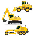 car equipment for road works vector image