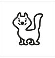 cat cartoon icon in simple monochrome style vector image