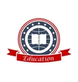 Education icon for university college academy vector image
