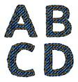 Farmerke tekstura ABCD resize vector image
