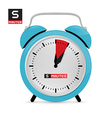 Five 5 Minutes Alarm Clock vector image