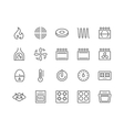 Line Stove Icons vector image