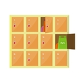 Lockers in Flat Style Design vector image