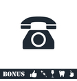 Phone icon flat vector image
