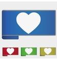 web bookmark - heart vector image