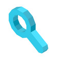 Magnifier icon for designation of search button vector image