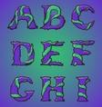 Halloween decorative alphabet part 1 vector image