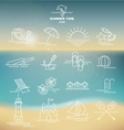 ULTIMATE SUMMER DESIGN ELEMENTS KIT vector image