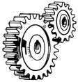 cog stack vector image vector image