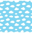 Cartoon Clouds Seamless Pattern vector image
