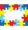 Puzzle Frame vector image
