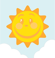 Of Smiling Sun vector image vector image