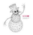abstract polygonal snowman vector image