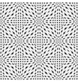 Design monochrome seamless mosaic pattern vector image