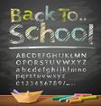 Hand drawn sketch alphabet pastel color message vector image