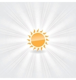 icon of orange sun vector image