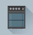 modern flat design concept icon kitchen stove vector image