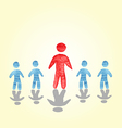 successful man stood out from the crowd watercolor vector image