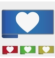 web bookmark - heart vector image