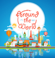 Vacation travelling concept Around the world vector image vector image