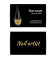 Gold glitter texture nail art buisness card vector image