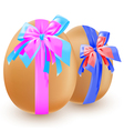 eggs and bow vector image vector image