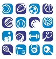 color sports icons set vector image
