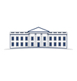 White House building icon vector image vector image