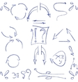 Hand drawn arrows and symbols isolated vector image