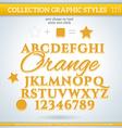 Orange Graphic Style for Design vector image