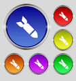 MissileRocket weapon icon sign Round symbol on vector image
