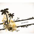 Grunge summer background vector image