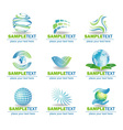 Set of eco design elements vector image vector image