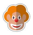 cartoon face clown april fool day vector image