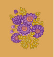 chrysanthemum flower card template design vector image