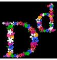 d letter vector image