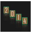 happy new year 2014 background vector image