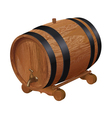 Realistic wooden barrel vector image