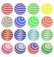 Set of Colorful Round Symbols vector image