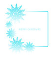 square frame with snowflakes isolated on white vector image