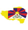 Tibet Flag vector image