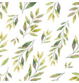 watercolor seamless pattern with silver vector image