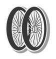 bicycle wheel silhouette vector image