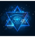 Double triangle and eye sign vector image