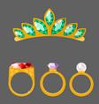 traditional golden jewellery bangles diamond vector image