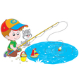Little fisher vector image vector image