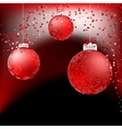 Red baubles on bright background  EPS8 vector image vector image