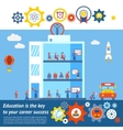 Seamless Education to Success Design vector image vector image