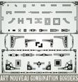 Art Nouveau Combination Border vector image